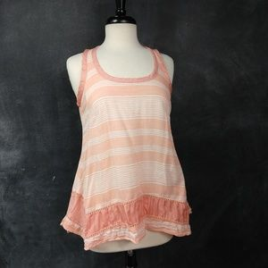 STYLE & CO. | Cotton Striped Tank with Silk Detail